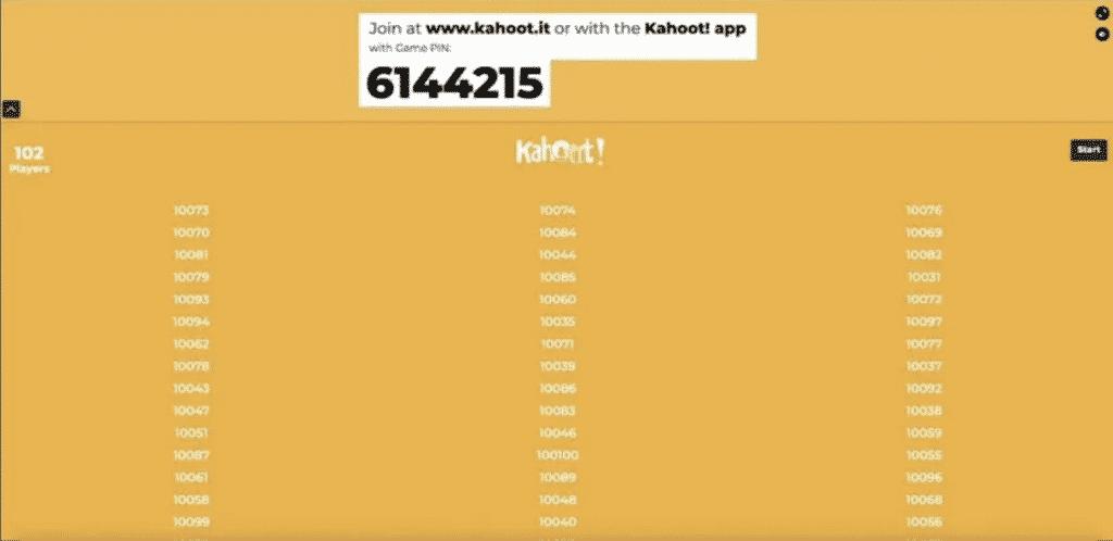 kahoot bot result